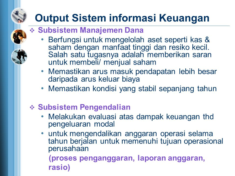 Output Sistem informasi Keuangan