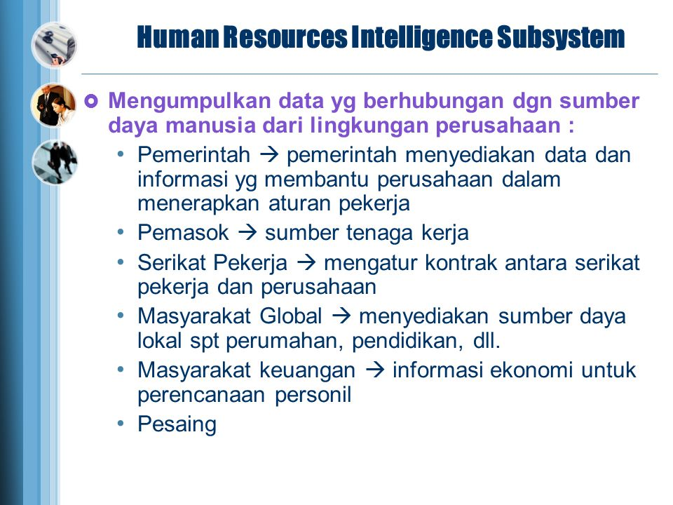 Human Resources Intelligence Subsystem