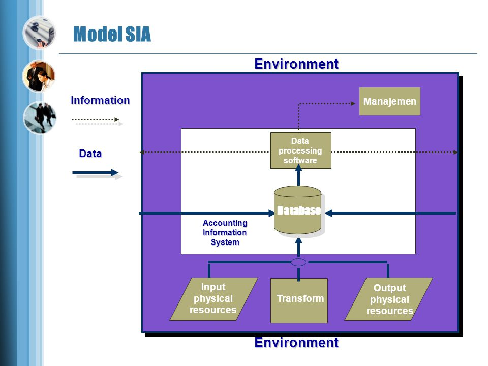 Model SIA Environment Environment Information Data Database Manajemen