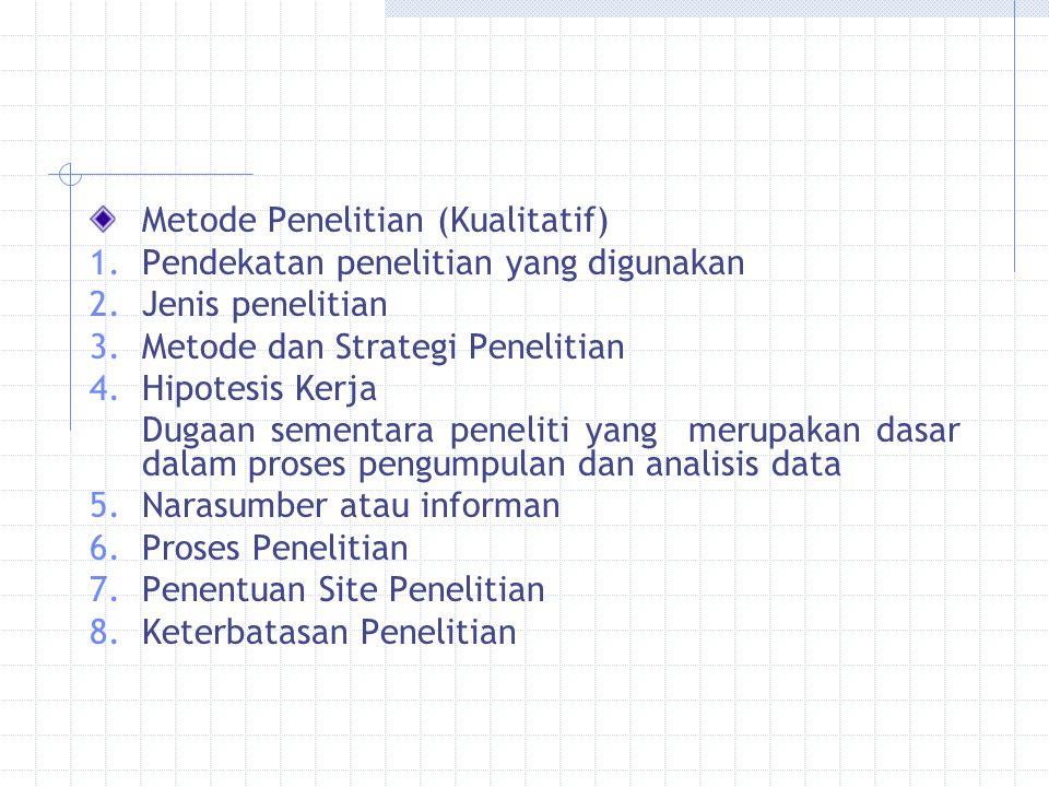 Metode Penelitian (Kualitatif)