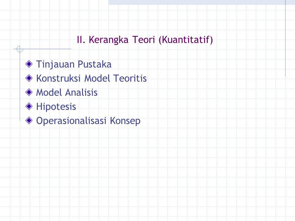 II. Kerangka Teori (Kuantitatif)