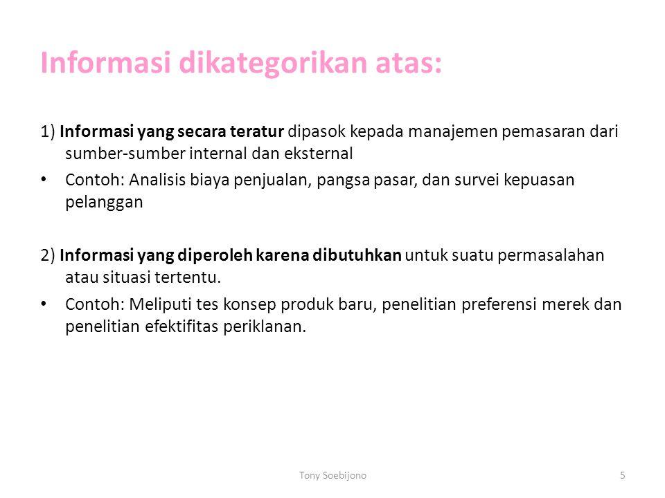 Informasi dikategorikan atas: