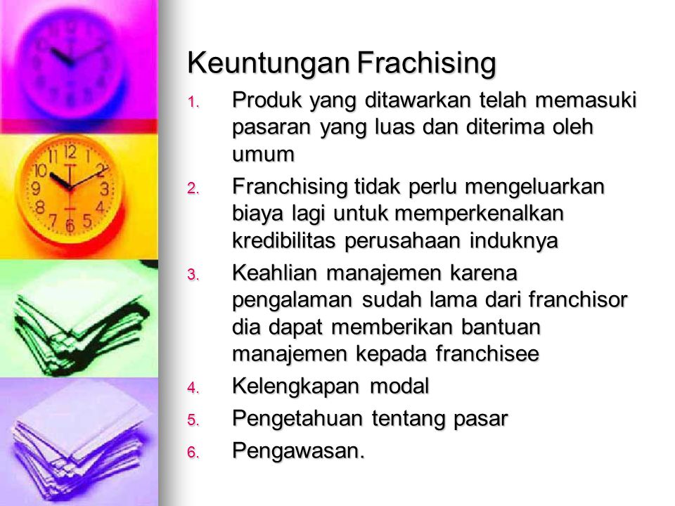 Keuntungan Frachising