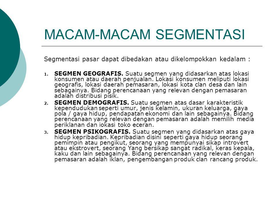 MACAM-MACAM SEGMENTASI