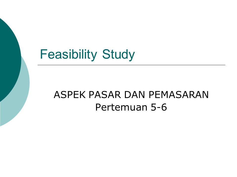 ASPEK PASAR DAN PEMASARAN Pertemuan 5-6