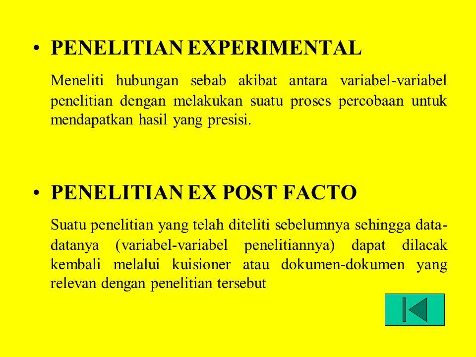 PENELITIAN EXPERIMENTAL