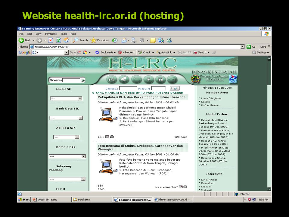 Website health-lrc.or.id (hosting)
