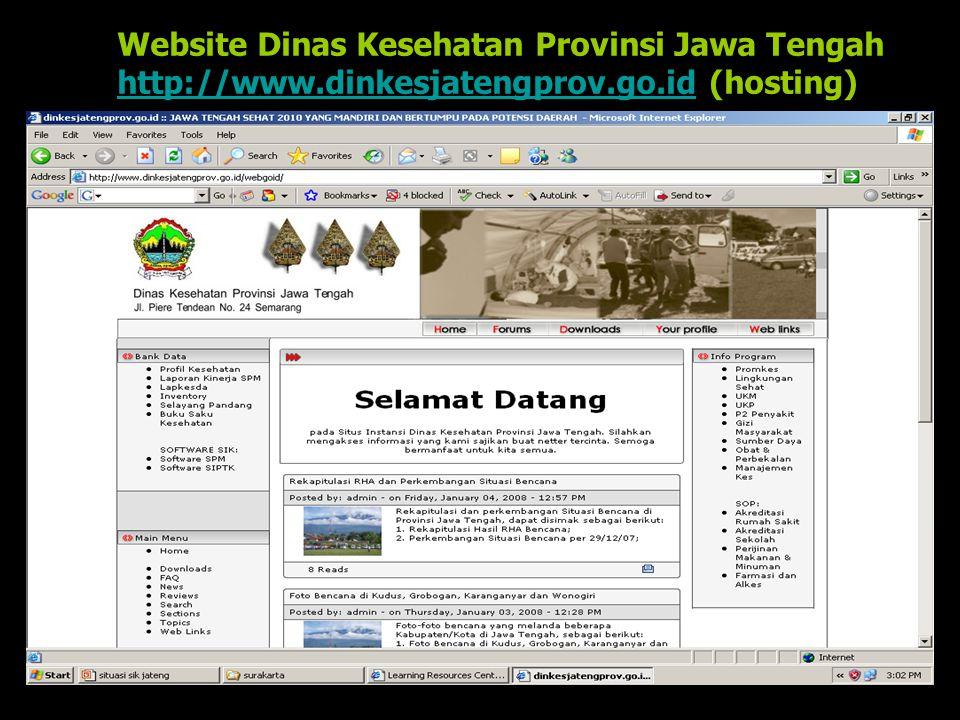 Website Dinas Kesehatan Provinsi Jawa Tengah