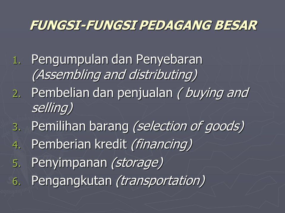 FUNGSI-FUNGSI PEDAGANG BESAR