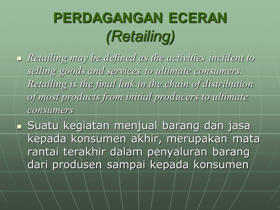 PERDAGANGAN ECERAN (Retailing)