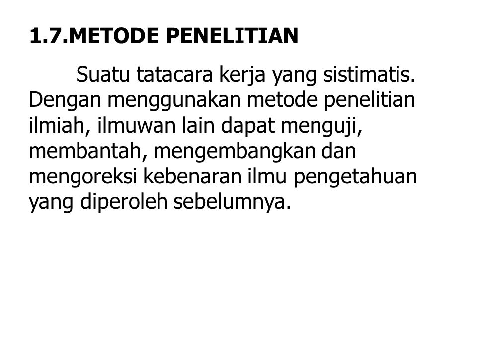 1.7.METODE PENELITIAN