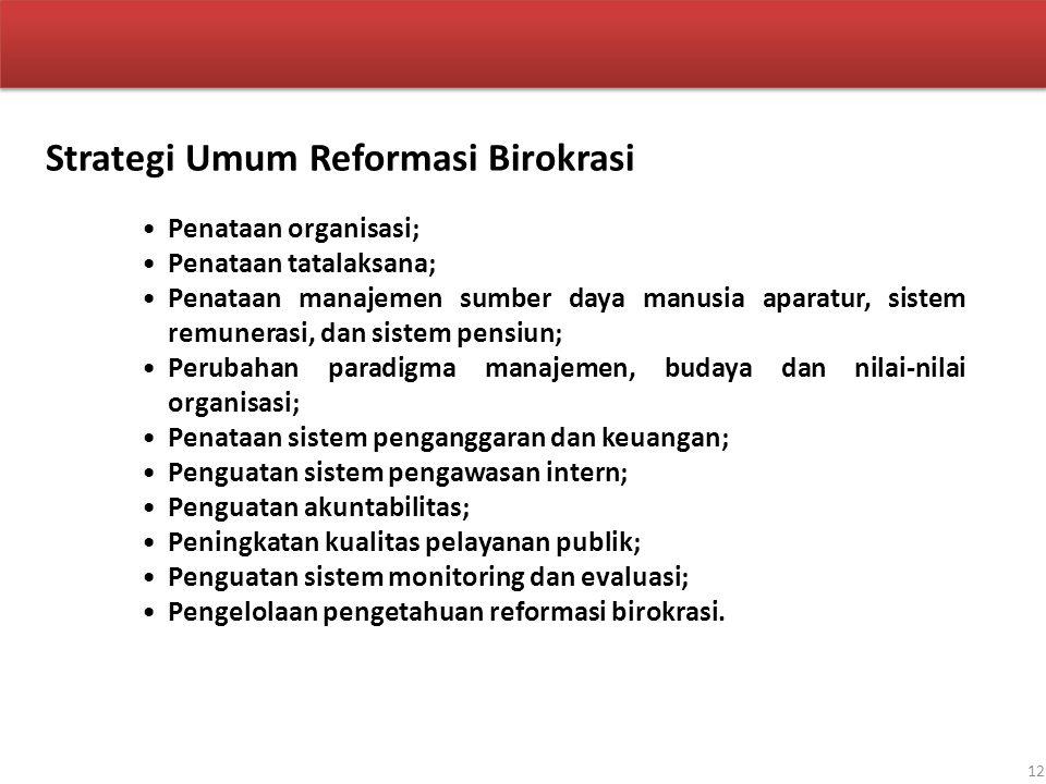Strategi Umum Reformasi Birokrasi