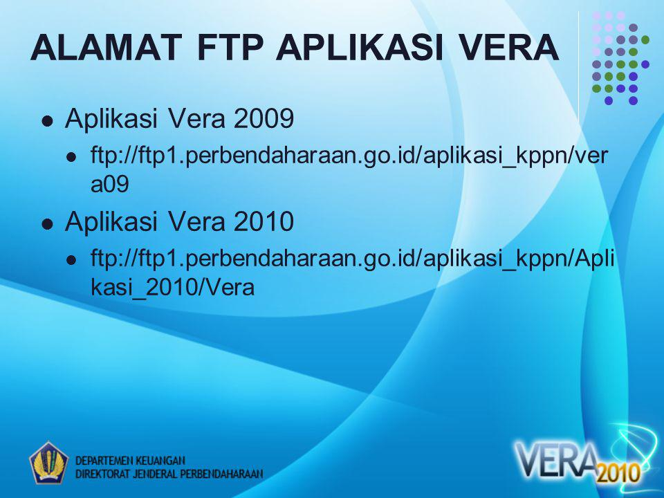ALAMAT FTP APLIKASI VERA