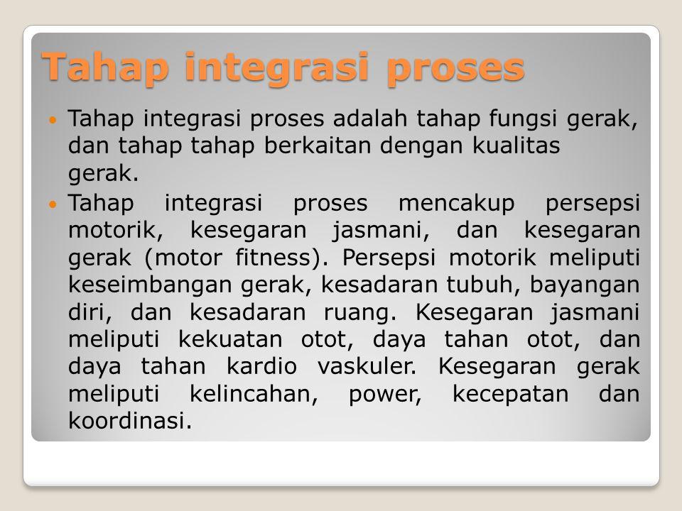 Tahap integrasi proses