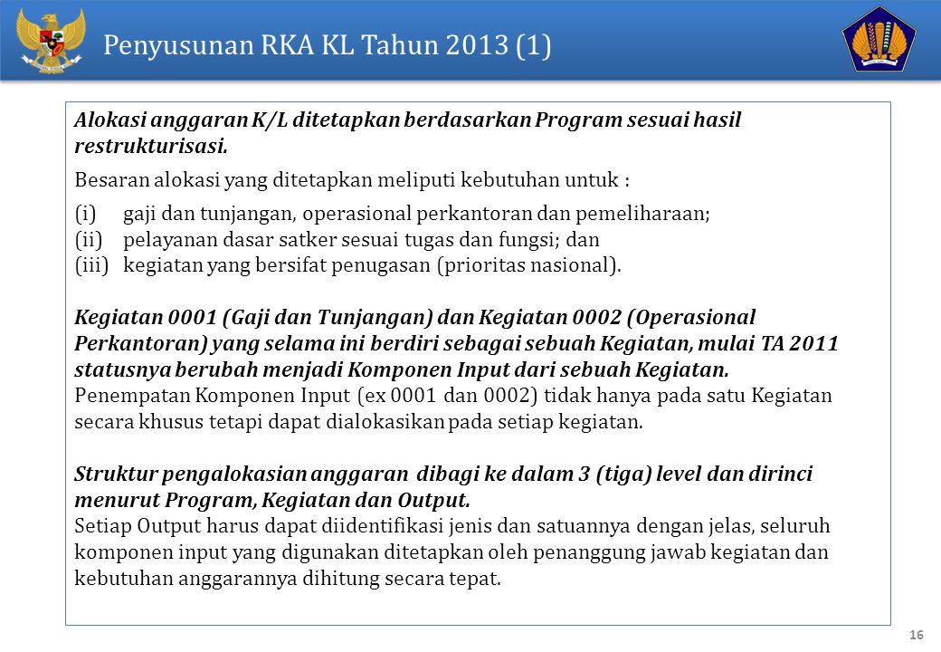 Penyusunan RKA KL Tahun 2013 (1)