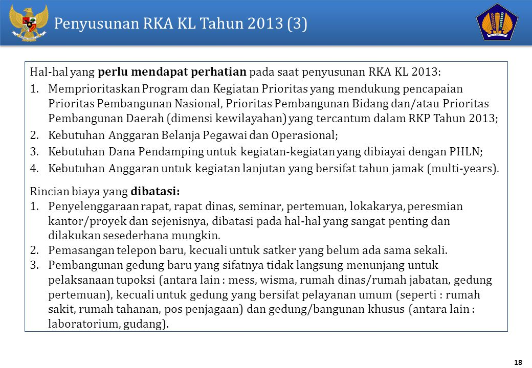 Penyusunan RKA KL Tahun 2013 (3)