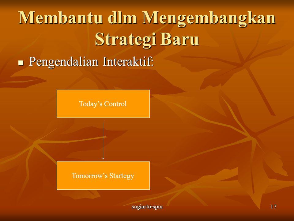 Membantu dlm Mengembangkan Strategi Baru