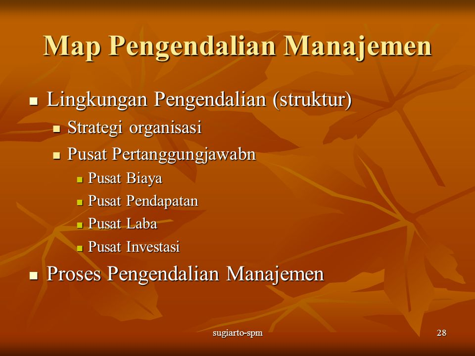 Map Pengendalian Manajemen