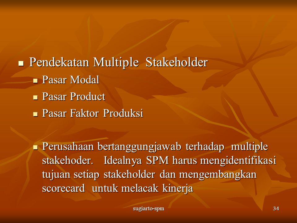 Pendekatan Multiple Stakeholder