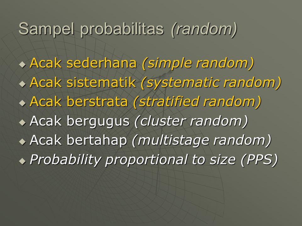Sampel probabilitas (random)