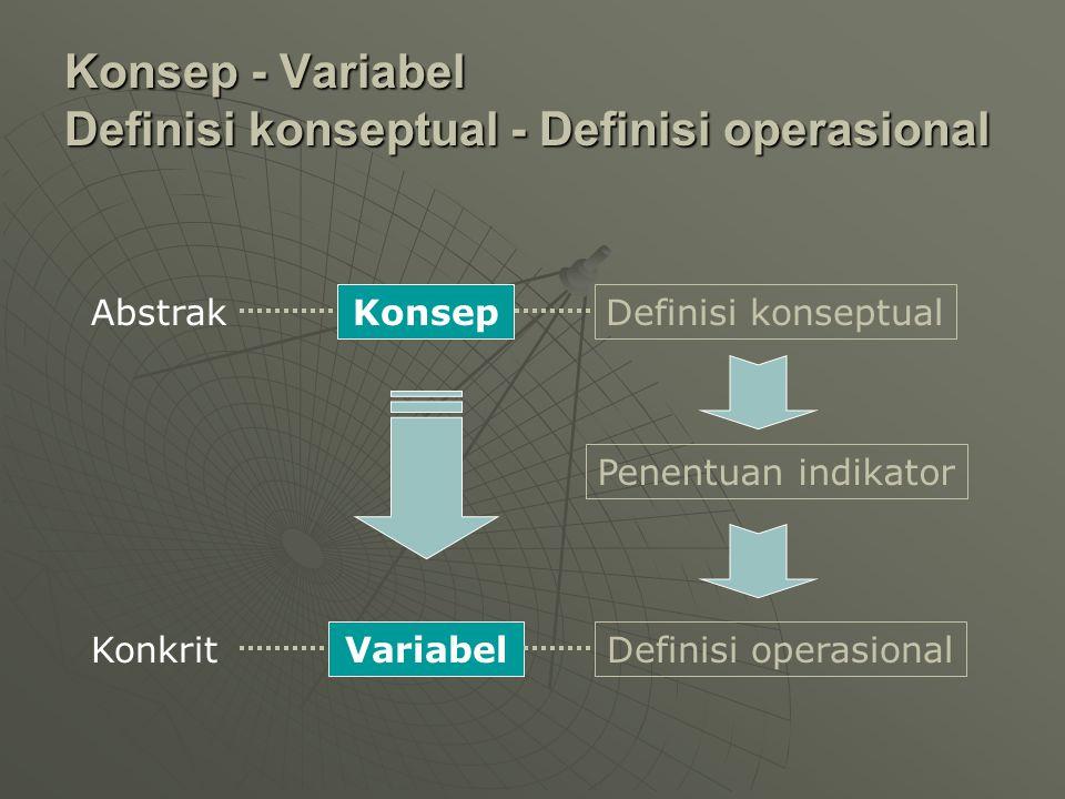Konsep - Variabel Definisi konseptual - Definisi operasional