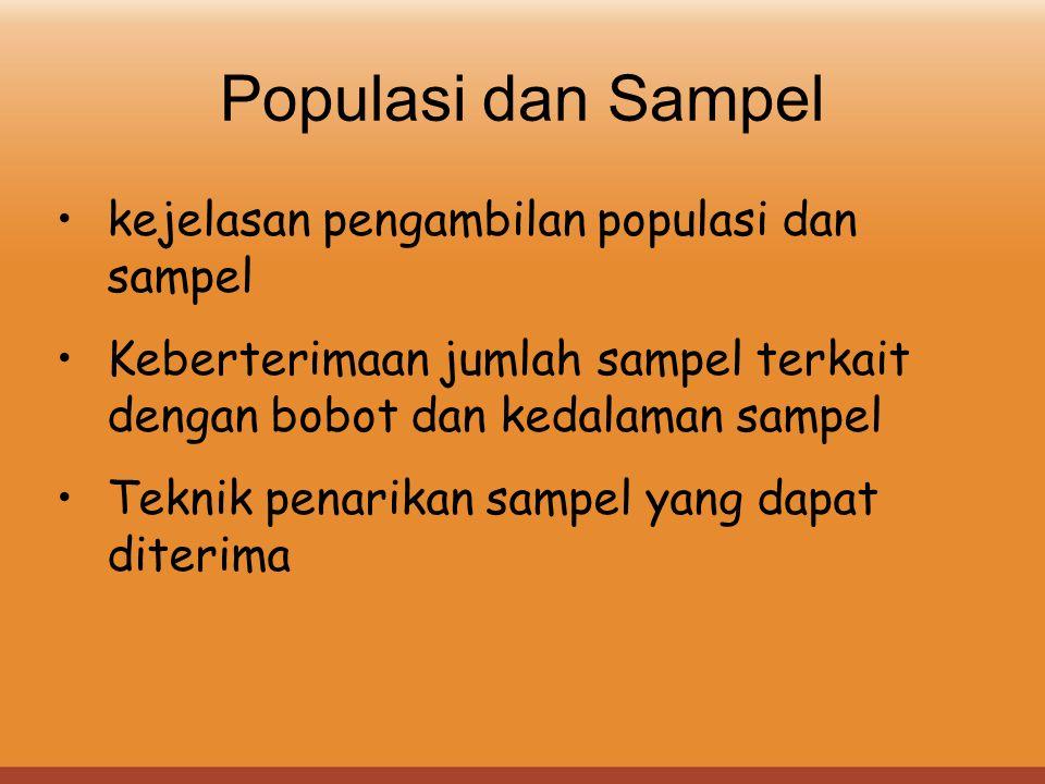 Populasi dan Sampel kejelasan pengambilan populasi dan sampel