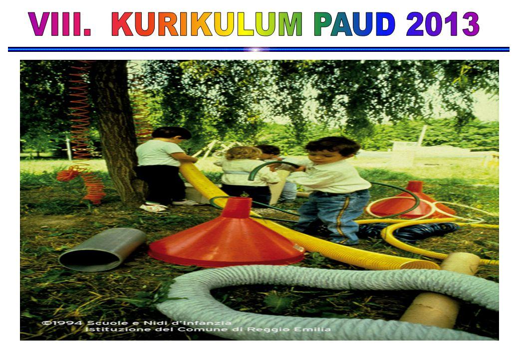 VIII. KURIKULUM PAUD 2013