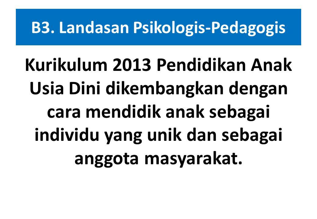 B3. Landasan Psikologis-Pedagogis