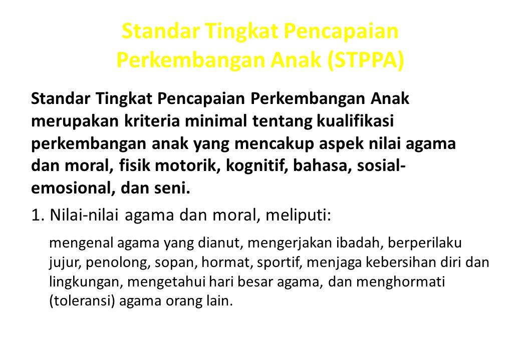 Standar Tingkat Pencapaian Perkembangan Anak (STPPA)