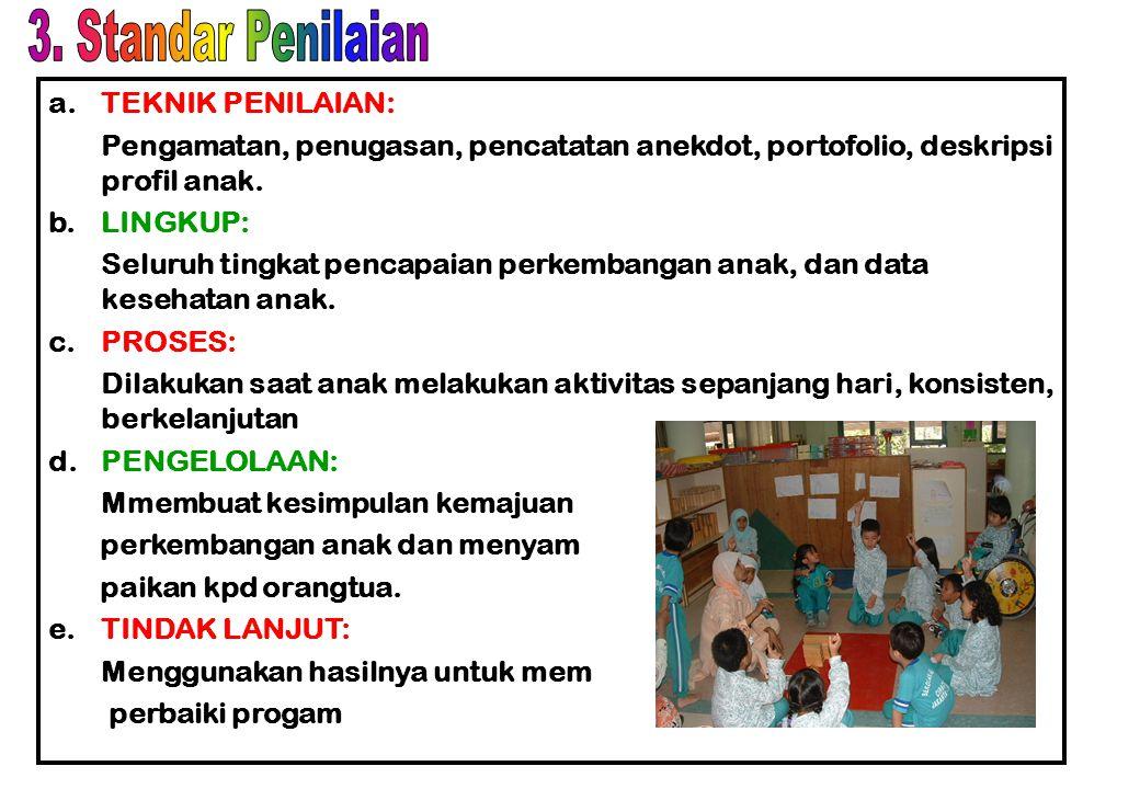 3. Standar Penilaian