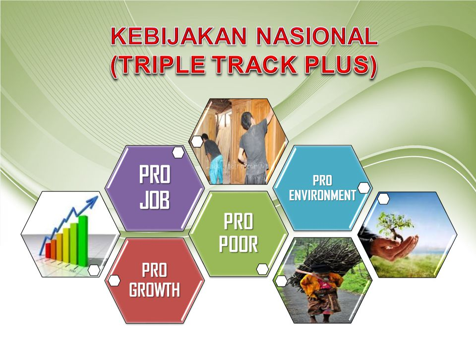 KEBIJAKAN NASIONAL (TRIPLE TRACK PLUS) PRO JOB PRO POOR PRO GROWTH