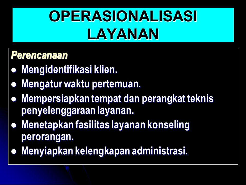 OPERASIONALISASI LAYANAN