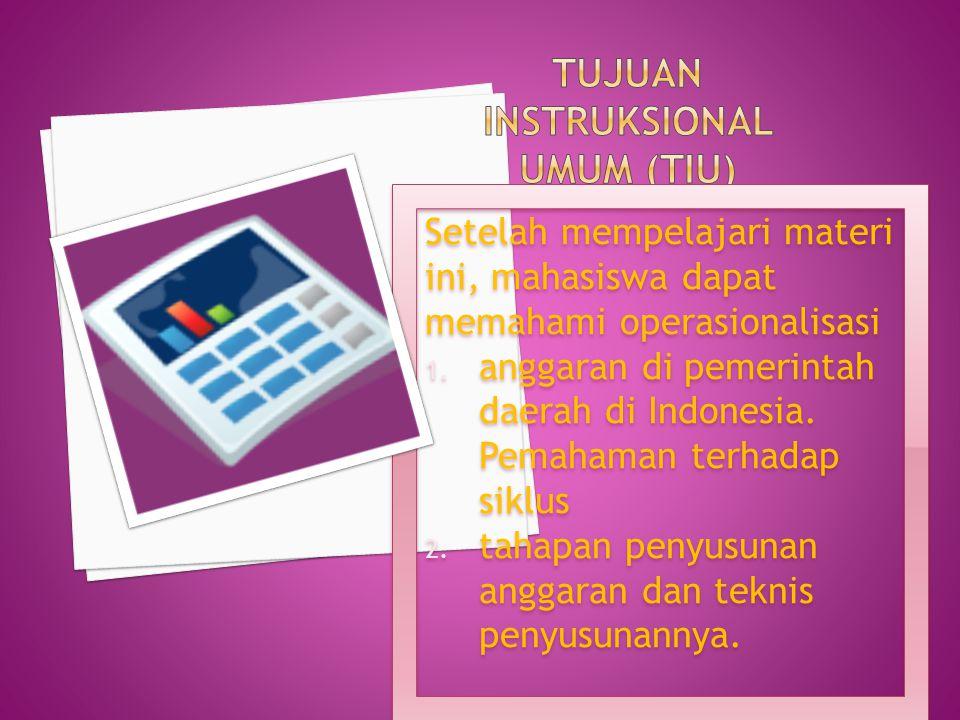 TUJUAN INSTRUKSIONAL UMUM (TIU)