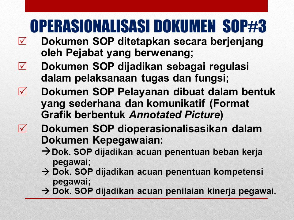 OPERASIONALISASI DOKUMEN SOP#3
