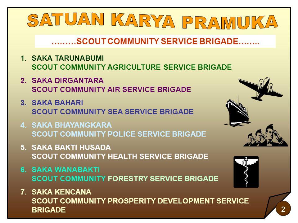 ………SCOUT COMMUNITY SERVICE BRIGADE……..