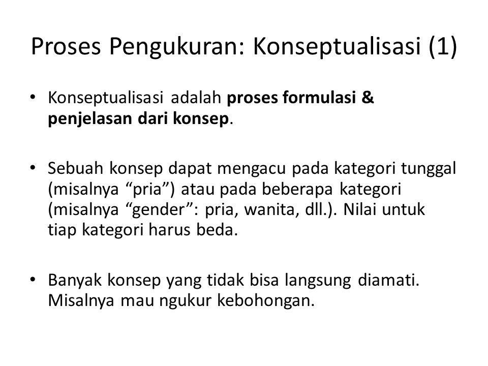 Proses Pengukuran: Konseptualisasi (1)