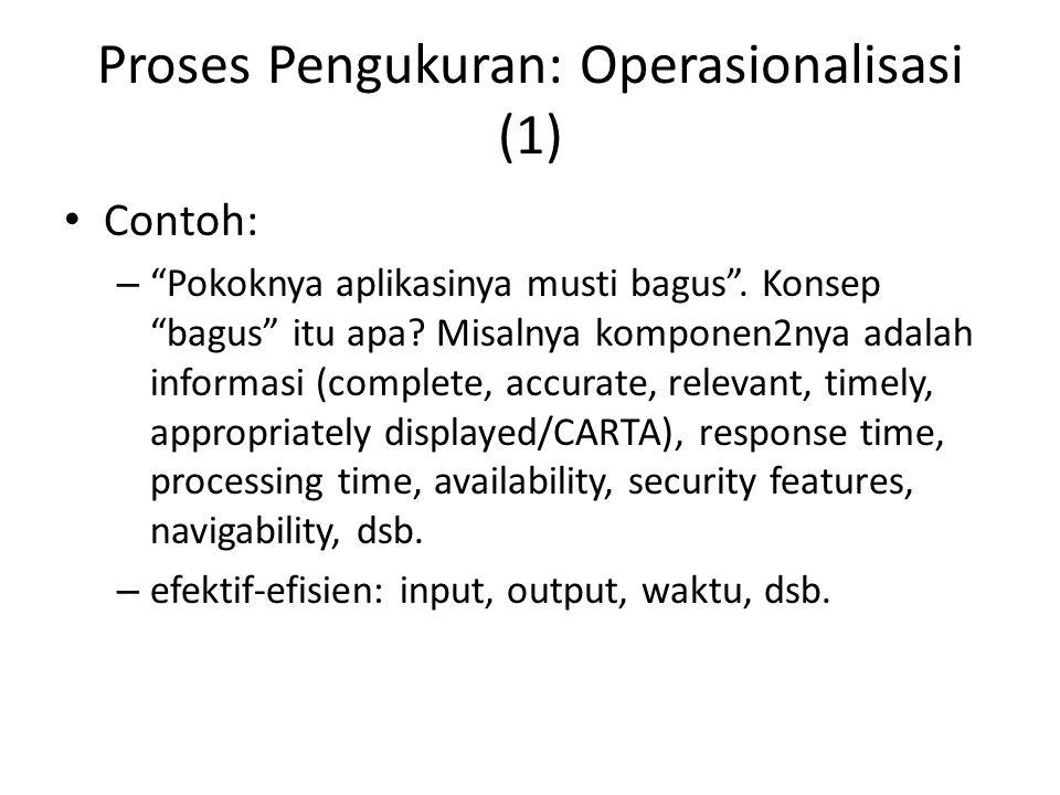 Proses Pengukuran: Operasionalisasi (1)