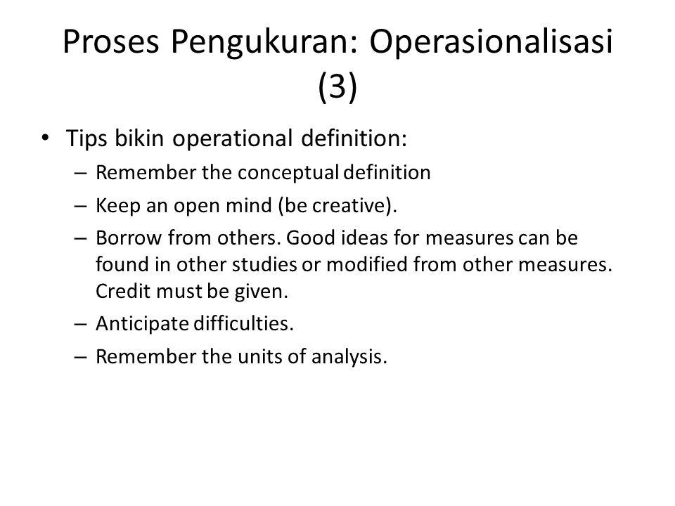 Proses Pengukuran: Operasionalisasi (3)
