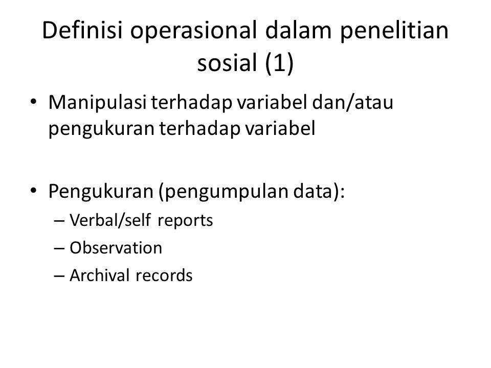 Definisi operasional dalam penelitian sosial (1)