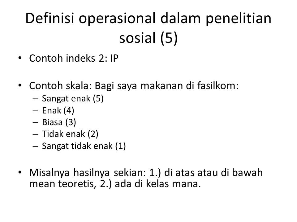 Definisi operasional dalam penelitian sosial (5)