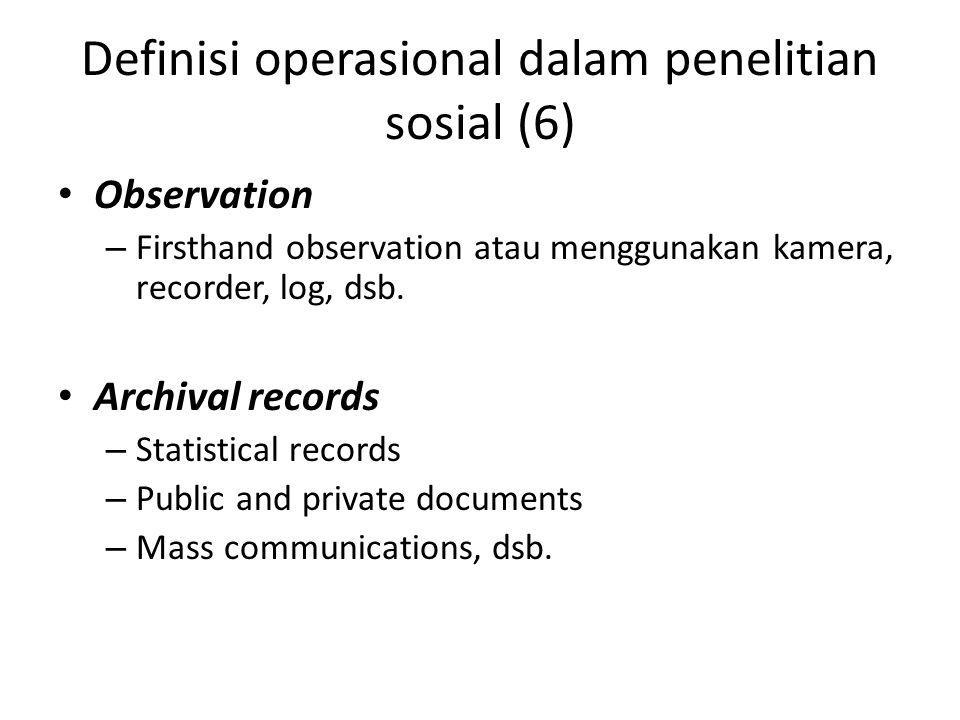 Definisi operasional dalam penelitian sosial (6)