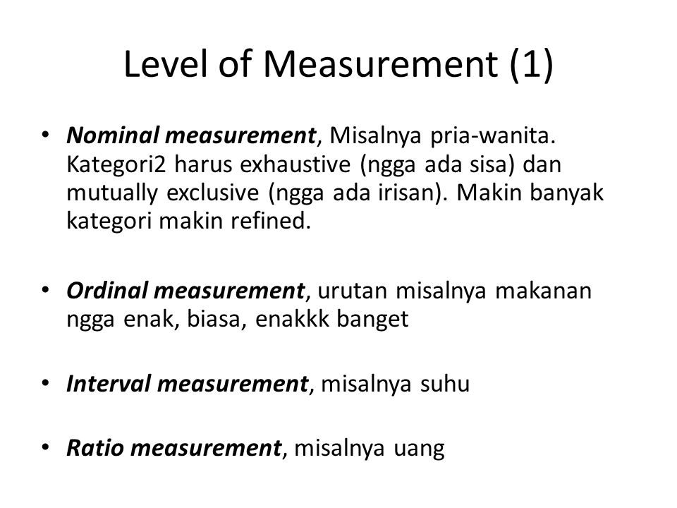 Level of Measurement (1)