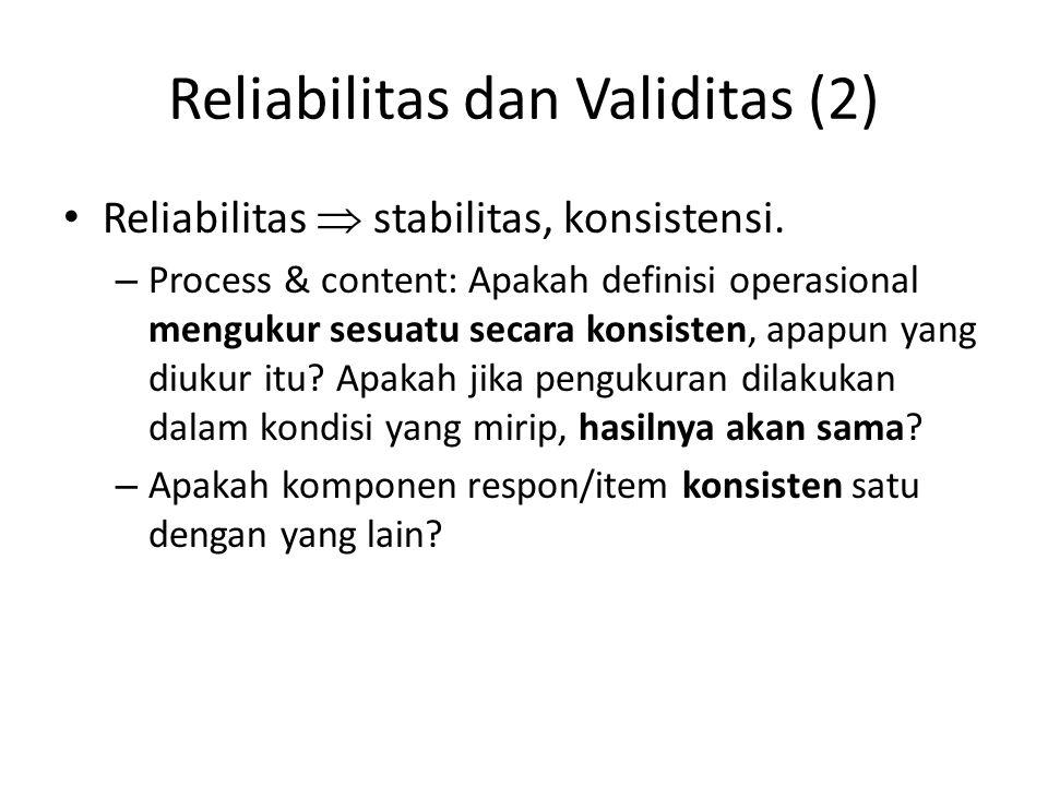 Reliabilitas dan Validitas (2)
