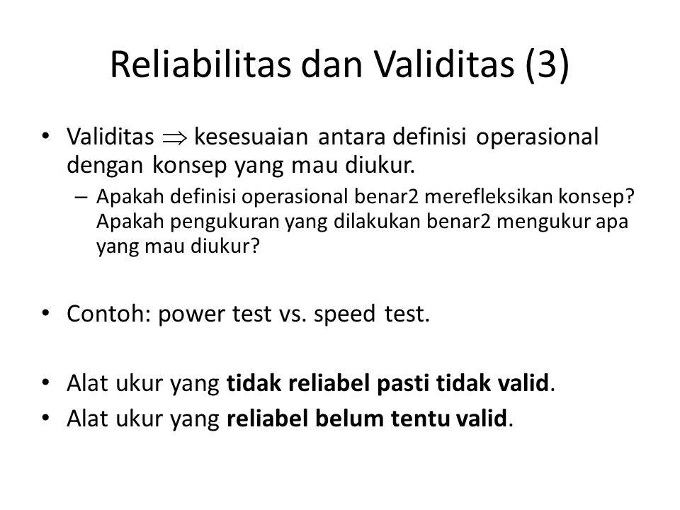 Reliabilitas dan Validitas (3)