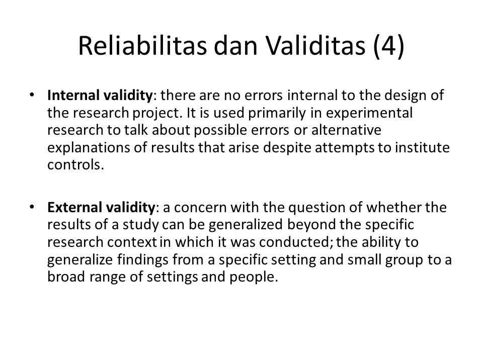 Reliabilitas dan Validitas (4)