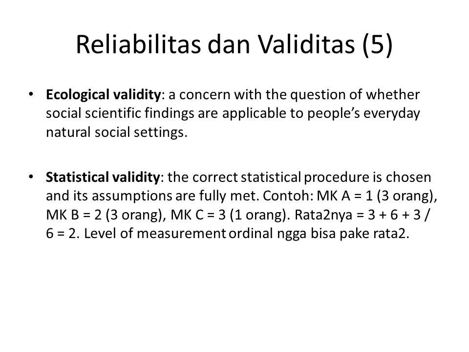 Reliabilitas dan Validitas (5)