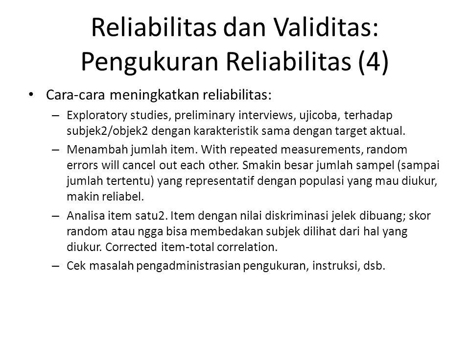 Reliabilitas dan Validitas: Pengukuran Reliabilitas (4)