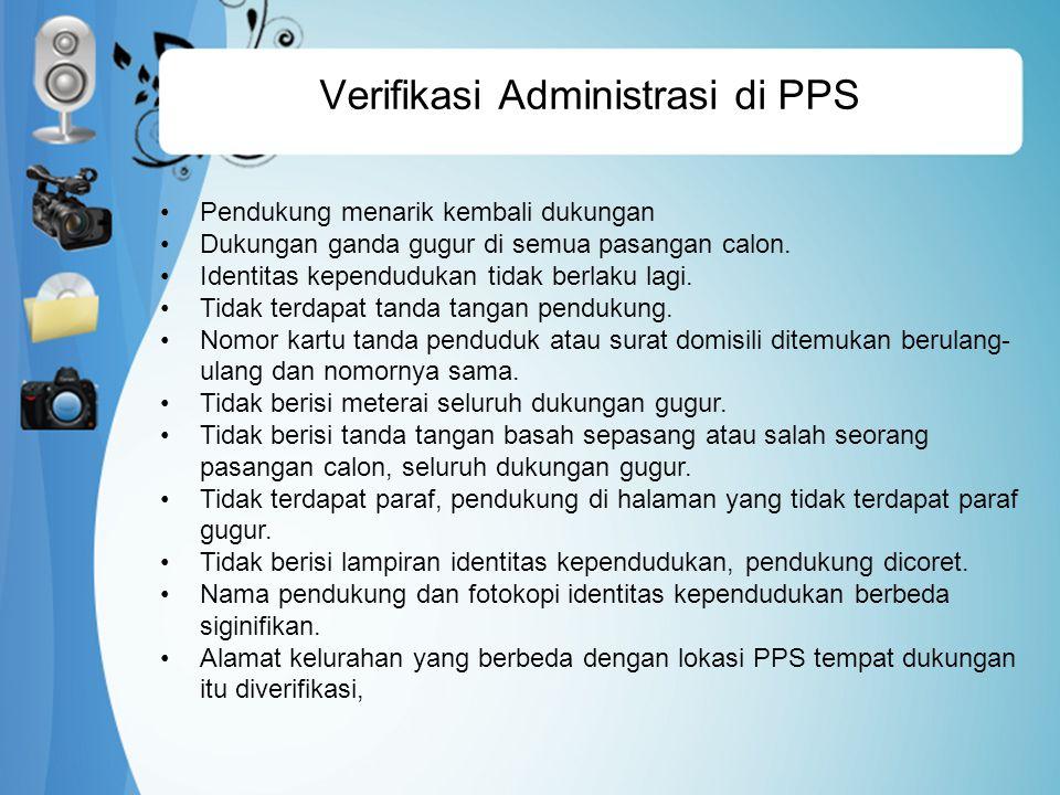 Verifikasi Administrasi di PPS