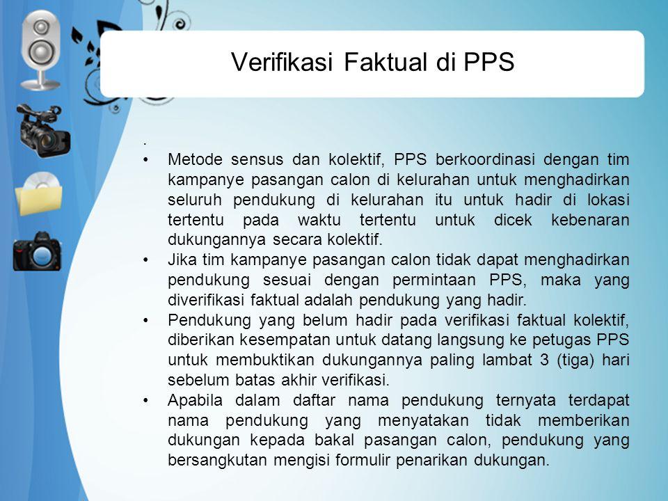 Verifikasi Faktual di PPS