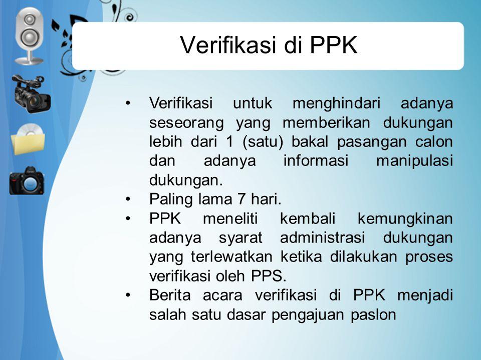 Verifikasi di PPK